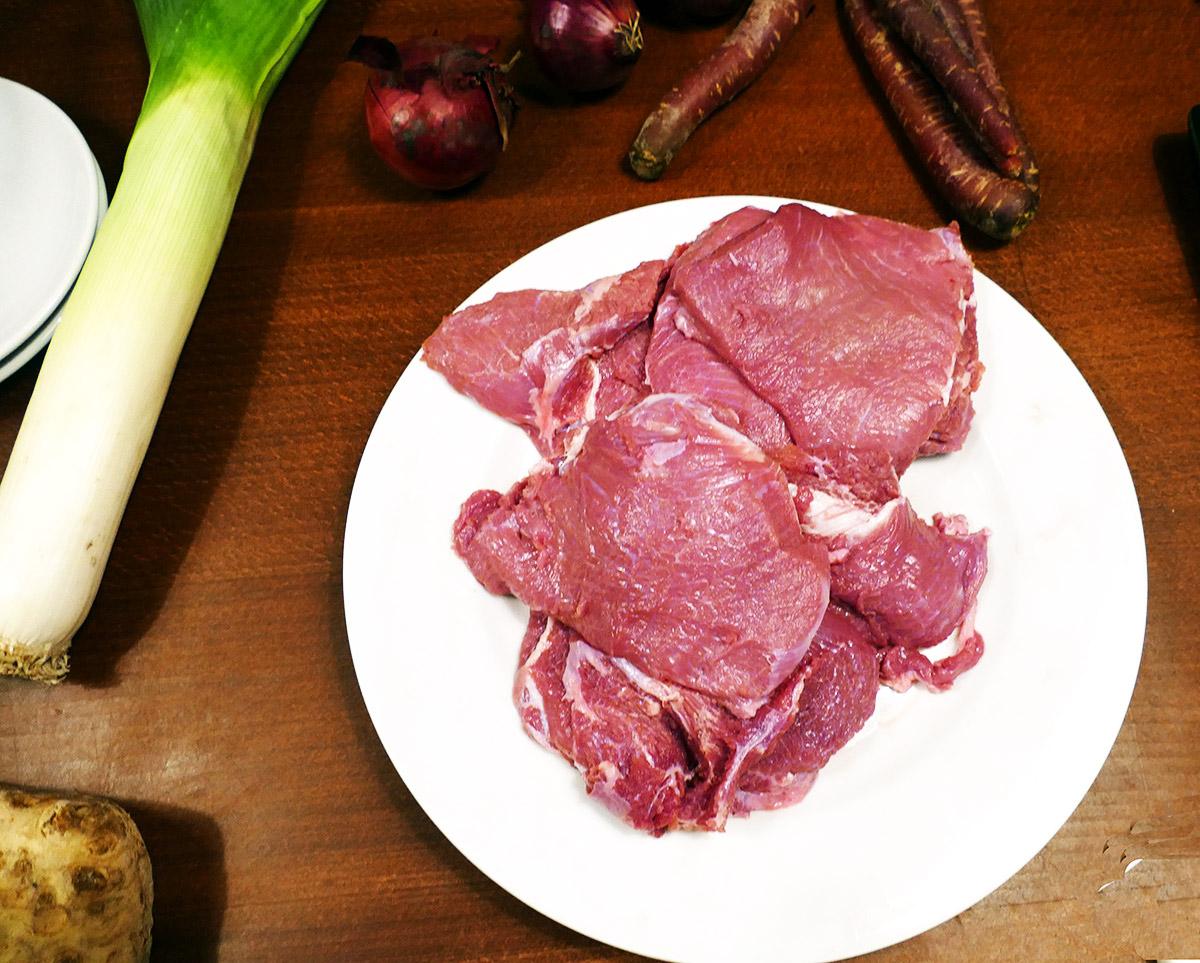 so sieht das Fleisch pariert aus