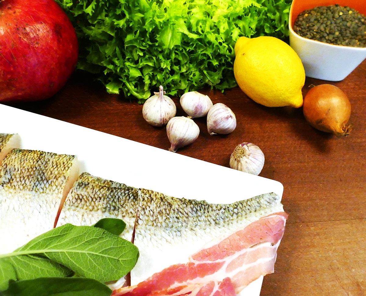 feine Zutaten, hier auch welche für den Salat