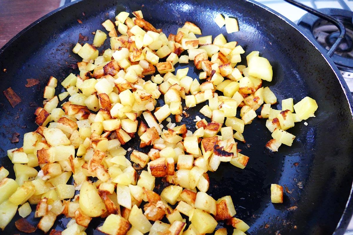 Kartoffeln anrösten