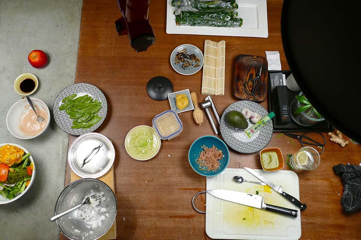 gruenkohl sushi Arbeitsplatz