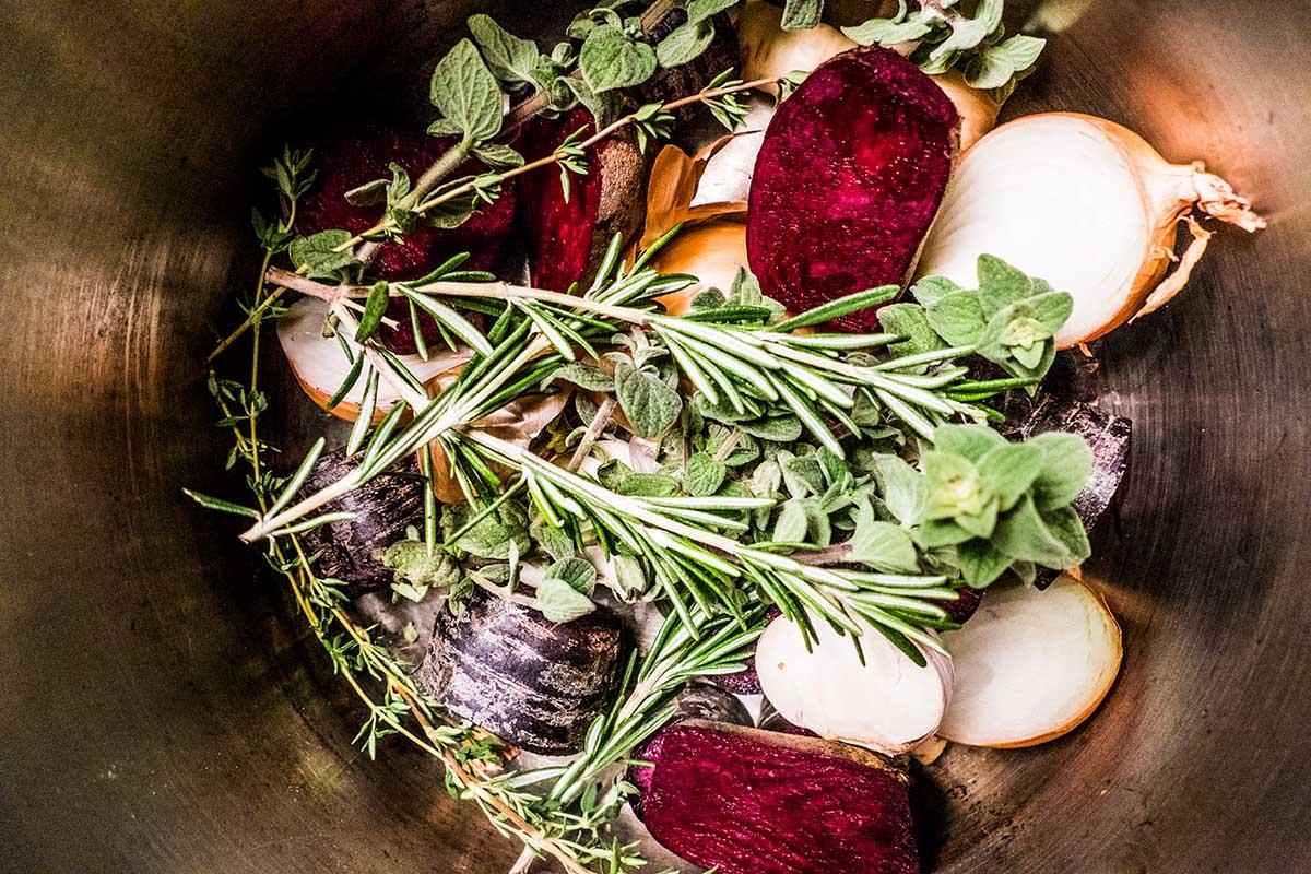 das Gemüse, wie es der Pulpo sieht- pulpo