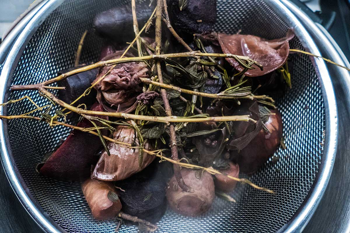 das Gemüse, wie ihn der Abfall gleich sieht - pulpo