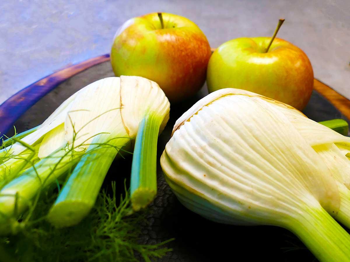 Fenchel und Apfel